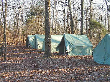 Our c&site contained plenty of flat ground to erect our canvas wall tents. & Bear Wallow Dec 2004